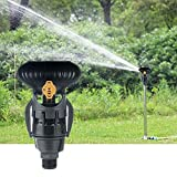 Primlisa Juego de 2 rociadores de jardín, giro de 360 grados, dispositivo de riego agrícola, micro aspersor, adecuado para granjas, huertos, viveros