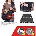 longsheng Dog Cat Sling Carrier, Adjustable Padded Shoulder Strap, with Zipper Pocket for Outdoor Travel 10