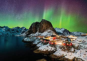 1000 Piece Jigsaw Puzzle for Adults - Hamnøy Norway - Fun Hard Challenging Winter Puzzle with Natural Scenery by Puzzle Posse