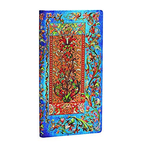 Paperblanks - Florentiner Kaskade Delphinium - Notizbuch Schlank Liniert