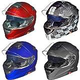 RS-982 Klapphelm Motorradhelm Conzept Motorrad Modular Roller Helm rueger, Größe:XS (53-54),...