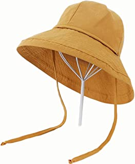 Hat New Substantial Coloration Fisherman hat Summer Sun hat (Color : Yellow, Size : 56-58CM)