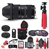 Sigma 18-35mm f/1.8 DC HSM Art Lens for Nikon F (210-306) Bundle + Backpack + 64GB Card + Lens Case + Card Reader + 3 Piece Filter Kit + Cleaning Set + Flex Tripod + Memory Wallet + More
