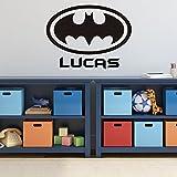 Batman Wall Decal - Personalized Superhero Logo Symbol, DC Comics Vinyl Home Decor