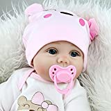 Yesteria Real Life Reborn Baby Dolls Girl Silicone Cotton Body Pink Outfit 22 Inches
