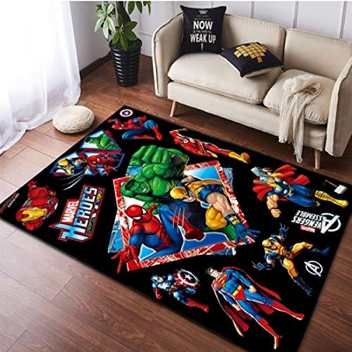 maishi Teppiche Teppich Cartoon Anime Avengers Teppich Wohnzimmer Schlafzimmer Kinderzimmer Bett Marvel Spiderman Bodenmatte Computer Stuhl Matte Bereich Teppich