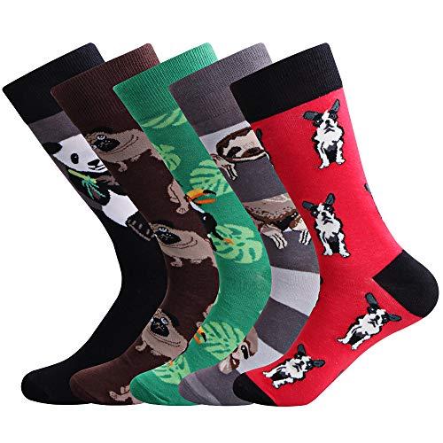 Ambielly Herren Lustig Socken Bunt Baumwolle Neuheit Crew Socken Männer Gemustert Funky Mode Beiläufig Kleid Socken (LB00007B)