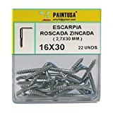 Escarpias roscadas zincadas 18 x 50 mm 14 uds