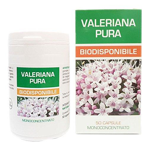 Valeriana Pura Naturpharma 50 Vegan capsule da 500 mg di Estratto Puro | Radice Estratto secco Titolato al 0,42 in Acidi Valerenici