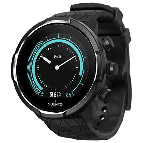 Suunto 9 Baro Montre GPS avec Batterie Longue Durée et Mesure du Rythme Cardiaque au Poignet, Titanium, SS050145000