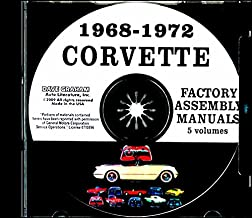 A MUST FOR OWNERS, MECHANICS & RESTORERS 1968 1969 1970 1971 1972 CORVETTE FACTORY ASSEMBLY INSTRUCTION MANUAL CD - ALL MODELS INCLUDING; C-3, Sting Ray, Stingray, Coupe, Hardtop, Convertible - VETTE