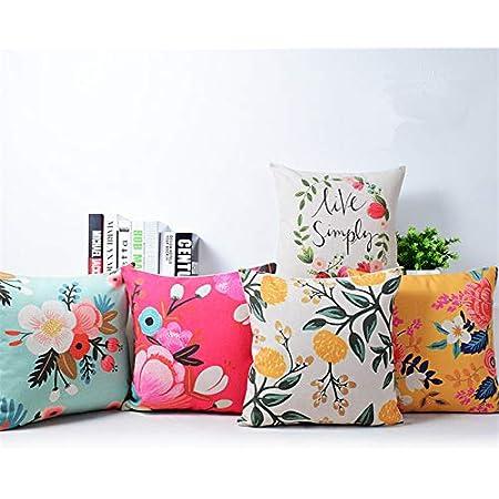 AEROHAVEN Set of 5 Designer Decorative Throw Pillow/Cushion Covers - CC122 - (16 inch x 16 inch, Multicolour)
