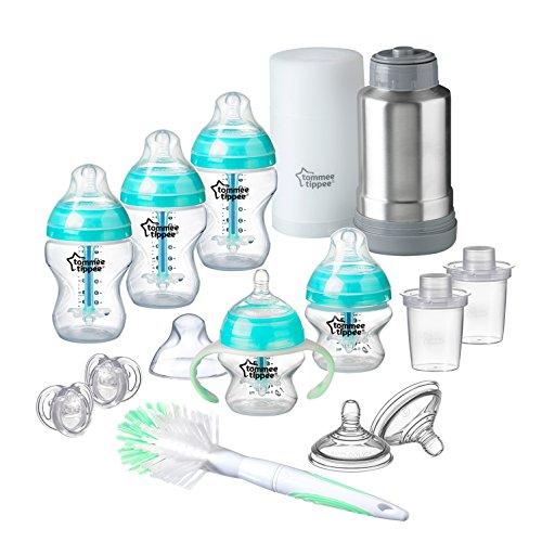 Tommee Tippee Advanced Anti-Colic Newborn Baby Bottle Feeding Gift Set, Heat Sensing Technology, BPA-Free