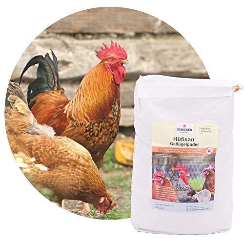 Schicker Mineral Hüfisan Geflügelpuder 12,5 kg, Puder aus feinstem Diabas Urgesteinsmehl bekämpft natürlich Milben & Schädlinge, für Stall & Gehege, für Hühner, Wachteln, Enten, o.Ä.