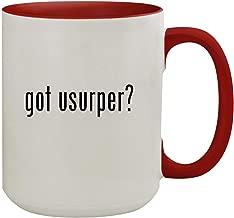 got usurper? - 15oz Colored Inner & Handle Ceramic Coffee Mug, Red