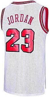 Runvian Camiseta de Baloncesto para Hombre, NBA Michael Jordan, Chicago # 23 Bulls Retro