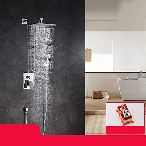 Manyao Grifo de la Ducha con Ducha de Mano, Cascada conducto de la Tina de baño Conjunto Sistema de Ducha con hidromasaje Boquilla de la Llave Fácil de presión de Agua de Control