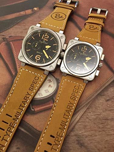 HHBB Marca de lujo relojes cronógrafo cronógrafo zafiro acero inoxidable plata luminoso marrón cuero amarillo blanco Aaa+ mujeres 40mm