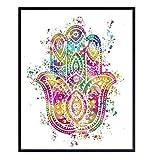 Hamsa, Hand of Fatima Wall Art Decor - 8x10...