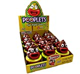 Kidsmania Pooplets Poop Emoji Shaped Candy Toy - Display Box of 12 Count