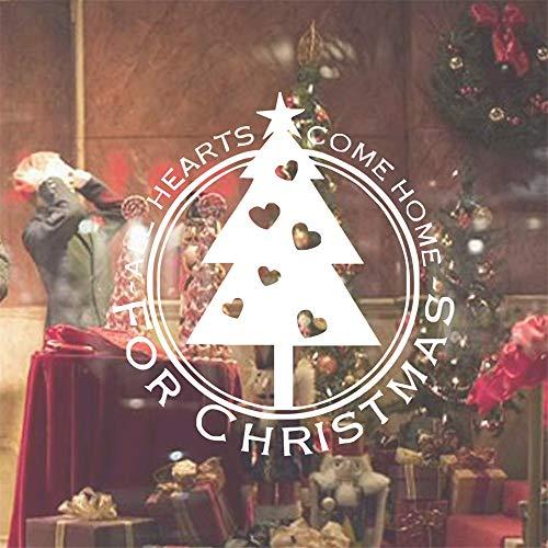 Stickers Muraux Fête De Noël Salut Sapin De Noël Pour Store Fenêtre En Verre Home Door Décoration Stickers