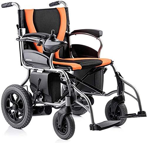 Silla de ruedas plegable de aluminio portátil bifuncional eléctrica o manual de cinco velocidades ajustables con recordatorio de inversión de 20 km +