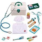 obzk Doctor'S Case Children, 14 Piezas de Juguetes médicos para niños Doctor'S Case Doctor Play Set Juegos de rol Regalos para niñas y niños a Partir de 3 años,Style-2