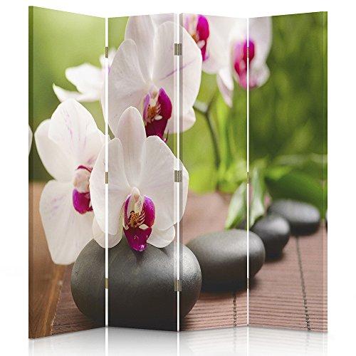Feeby Frames Paravent Toile déco orchidée Impression 1 Face Jaune 145x150 cm
