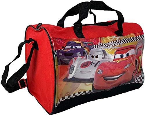 NADA Home Sporttasche Disney Cars, offizielles Produkt für Kinder, Fitnessstudio, Schule, Reise, 1965, Rot, 37 x 23 x 20 cm