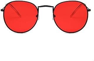 15853df225 TTPLOMJ Gafas de Sol Mujeres Hombres Retro Gafas de Sol Redondas Diseñador  Rojo Amarillo Gafas de