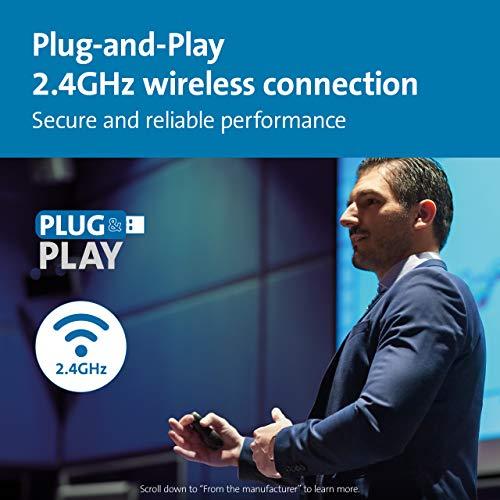Kensington 33374EU Wireless 2.4Ghz USB Presenter + Rotem Laser; Kompatibel mit PowerPoint ™ / KeyNote ™