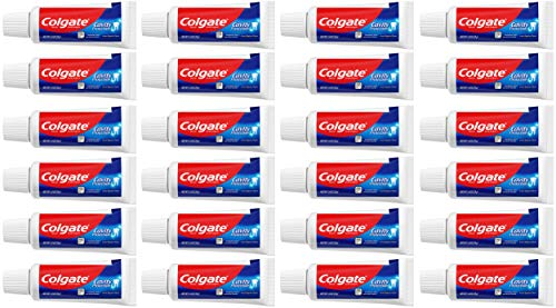 Colgate Cavity Protection Travel Toothpaste with Fluoride, TSA Approved Size - 1 ounce (24 Pack)