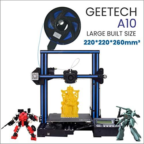 Hiveseen Impresora 3D de aluminio montaje rápido con un volumen de impression y recuperación de la falla de energía (A10) (i3 ProW) (I3 A10) 220 × 220 × 260 mm
