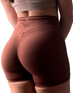 TomTiger Yoga Shorts for Women Tummy Control High Waist Biker Shorts Exercise Workout Butt Lifting Tights Women's Short Pants