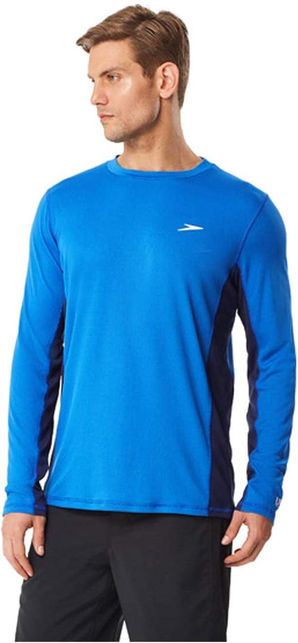 Speedo Men's UV Swim Shirt Long Sleeve Longview Tee : Clothing, Shoes & Jewelry