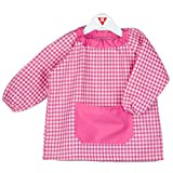 KLOTTZ - Babi poncho sin botones guardería. Bata escolar cómoda de vestir perfecta para comedores y colegios. bebé-niños color: FUCSIA talla: 2