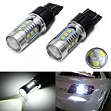 iJDMTOY (2) 360° High Power 15-SMD 7440 7441 7444 T20 LED Bulbs For Car Backup Reverse Lights, Xenon White