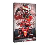 Póster de lienzo de 3 veces de Fórmula 1 de Austria, Niki Lauda, 1 de Fórmula 1, para decoración de dormitorio, deportes, paisaje, oficina, habitación, regalo, 40 x 60 cm. Marco: