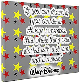 Dream Walt Disney Quote CANVAS Wall Art Home Décor