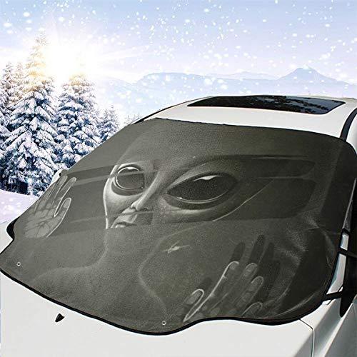 Lilyo-ltd Alien MKP Windschutzscheibenschutz für die meisten Autos, SUV, LKW, schützt vor Hitze und Sonne, hält Ihr Fahrzeug kühl