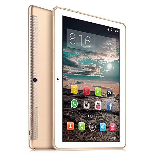 4G LTE Tablette Tactile 10 Pouces - TOSCIDO W109 Android 9.0 , Quad Core,4G Doule SIM,64 Go,4 Go de RAM,WiFi/Bluetooth/GPS/OTG,Double Haut-Parleur Stéréo - Or