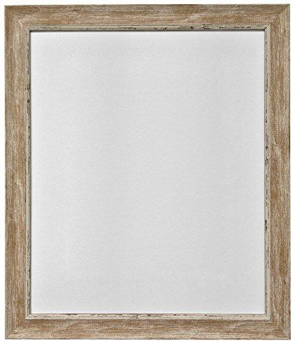 Nordisch, bruin frame By-Post-fotolijst met oud uitziende patina, bestaande uit hout en glas, 25,4 x 20,3 cm