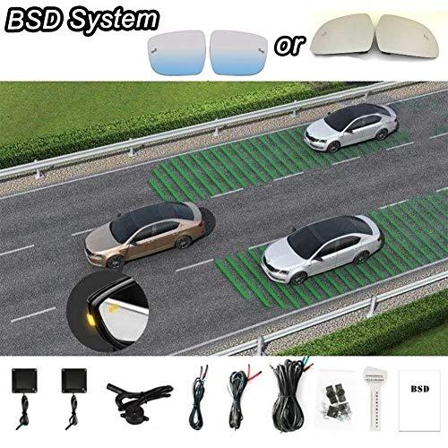 SHENYF Car BSD System Blind Spot Detection Driving Warning Safety Radar Alert Mirror for Citrone C3-XR 2014 2015 2016 2018 2019 (Size : Dedicated White)