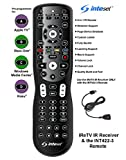 Inteset 4-in-1 Universal Backlit Remote & IReTV IR Receiver Combo. for Streamers That Have no IR Receiver Built in, Including F-TV, Nvidia Shield (2nd Gen), Kodi, MCE and Many Other A/V Devices