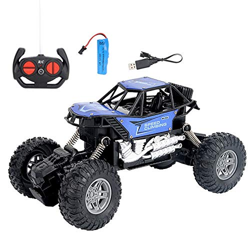 AIOJY Alloy RC Car Off-Road Vehicle Charging Big Bike Children 4 Channel Electric Remote Control Toy Car Gifts for Boys, The Best Birthday for Adults and Children (Color : C)