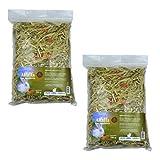 FINCA CASAREJO Alfalfa con Zanahoria - Bolsa de heno 150g - Alimento complementario 100% Natural para Conejos, cobayas y Chinchillas (2 Unidades)