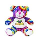 Bear Buggy Mardi Gras Plush Animals by RGU (Tie-Dye Teddy, 6')