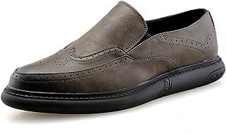 Tufanyu メンズファッションオックスフォードカジュアルロートップ復元色快適な彫刻靴 丈夫 (Color : グレー, サイズ : 26 CM)