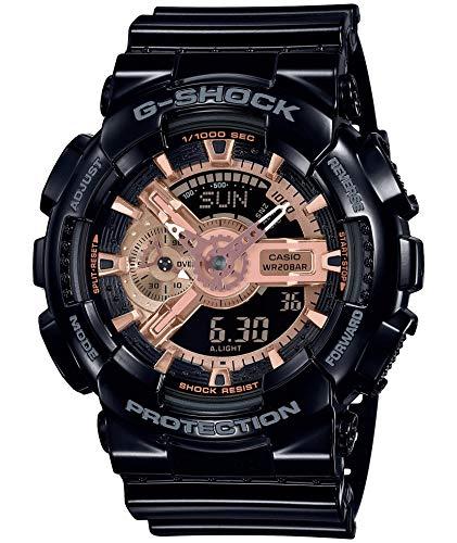 [カシオ] 腕時計 ジーショック BLACK&ROSE GOLD GA-110MMC-1AJF メンズ ブラック