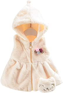BOZEVON Baby Girls Cute Coat - Spring Autumn Winter Hooded Gilets Dress Thick Warm Cloak Jacket
